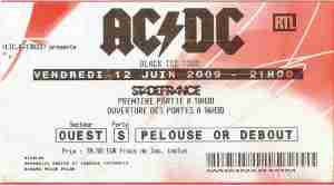 AC/DC - Paris (Stade de France)(12.06.2009) Ticket © Alex Melomane