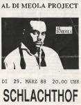 Al DiMeola - Wels (Schlachthof) Flyer Front (29.03.1988) © Alex Melomane