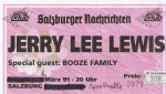 Jerry Lee Lewis – Salzburg (Sporthalle)(06.03.1991) Ticket © Alex Melomane