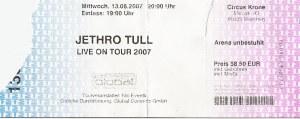 Jethro Tull - Munich (Circus Krone)(13.06.2007) Ticket © Alex Melomane