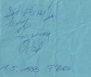 Louisiana Red - Frankenburg (Gasthaus Preuner)(01.05.1990) Autograph © Alex Melomane