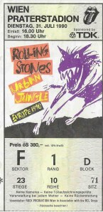 The Rolling Stones – Vienna (Praterstadion)(31.07.1990) Ticket © Alex Melomane