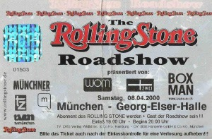 Ticket - Rolling Stone Roadshow (08.04.2000) © Alex Melomane