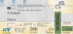 16 Horsepower – Vienna (Flex)(05.09.2002) Ticket © Alex Melomane