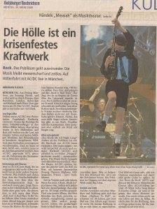 AC/DC - Munich (Olympiahalle)Szene)(27.03.2009) Review Salzburger Nachrichten © Alex Melomane