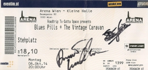 Blues Pills - Vienna (Arena)(06.10.2014) Ticket © Alex Melomane