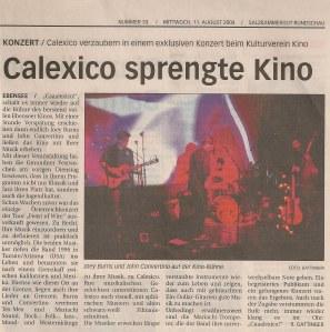 Calexico - Ebensee (Kino)(03.08.2004) Review Salzkammergut Rundschau © Alex Melomane