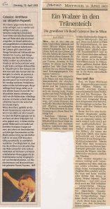 Calexico - Vienna (Szene)(15.04.2003) Review Salzburger Nachrichten & Der Standard © Alex Melomane