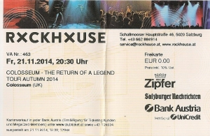 Colossseum - Salzburg (Rockhouse)(21.11.2014) Ticket