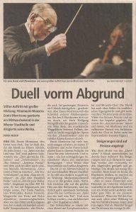 Ennio Morricone - Vienna (Stadthalle) (12.12.2007) Salzburger Nachrichten Review © Alex Melomane