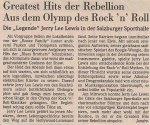 Jerry Lee Lewis - Salzburg (Sporthalle)(06.03.1991) Salzburger Nachrichten Review © Alex Melomane