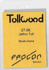 Jethro Tull – Munich (Tollwood)(27.06.2001) Ticket © Alex Melomane
