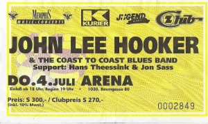 John Lee Hooker - Vienna (04.07.1991/1992) Ticket © Alex Melomane