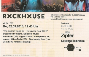 Kamchatka - Salzburg (Rockhouse-Bar)(02.03.2015) Ticket