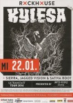 Kylesa/Sierra/Jagged Vision/Sativa Root – Salzburg (Rockhouse Bar)(22.01.2014) Flyer © Alex Melomane
