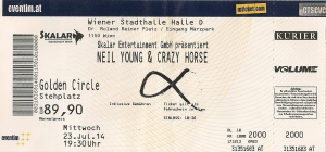 Neil Young & Crazy Horse - Vienna (Stadthalle) (23.07.2014) Ticket © Alex Melomane