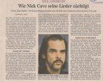 Nick Cave - Vienna (Konzerthaus)(13.11.2006) Die Presse Review © Alex Melomane