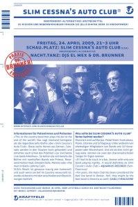 Slim Cessna's Auto Club - Winterthur (Kraftfeld)(24.04.2009) Flyer