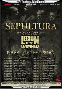 Sepultura - Salzburg (Rockhouse)(20.02.2014) Flyer