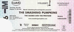 The Smashing Pumpkins – Munich (Olympiahalle)(24.09.2000) Ticket © Alex Melomane