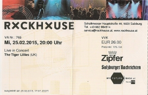 The Tiger Lillies - Salzburg (Rockhouse)(25.02.2015) Ticket