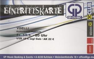 Vdelli - Kufstein (Kulturfabrik)(13.03.2015) Ticket