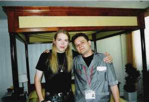Eicca Toppinen (Apocalyptica)  with Alex Melomane (Cologne - 2000)