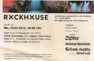 Henrik Freischlader – Salzburg (Rockhouse)(24.03.2014) Ticket © Alex Melomane