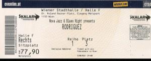 Rodriguez – Vienna (Wiener Stadthalle – Halle F)(26.03.2014) Ticket © Alex Melomane