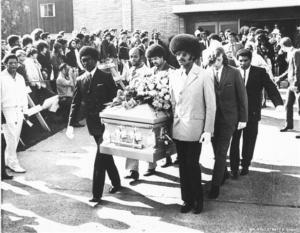 Jimi Hendrix Funeral (1st October 1970)