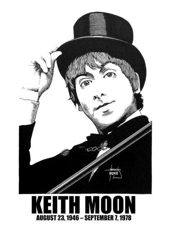 Keith Moon (23rd August 1946 - 7th September 1978)