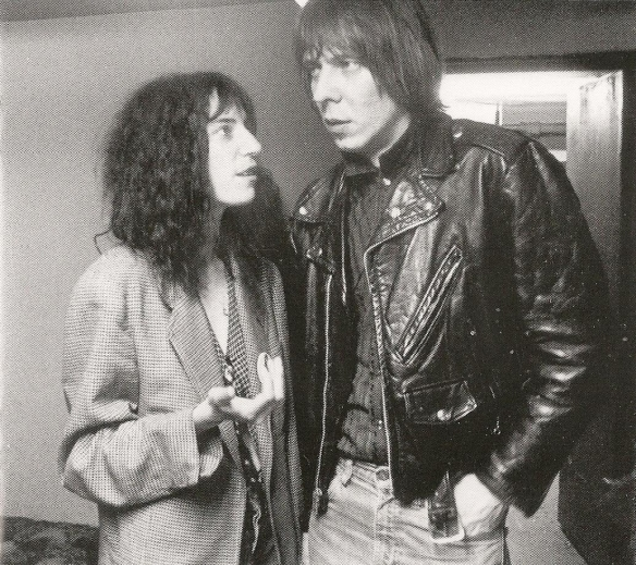 "Pattie Smith and Fred ""Sonic"" Smith (1978 - Photo by Sue Rynski)"