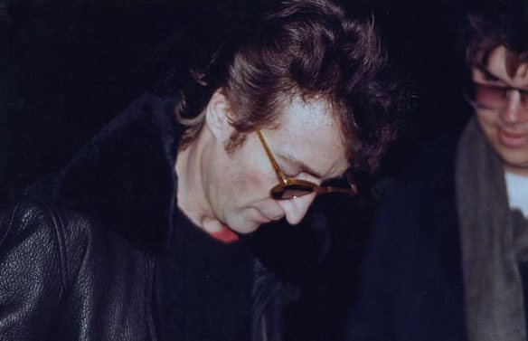 John Lennon and Mark Chapman (8th December 1980)